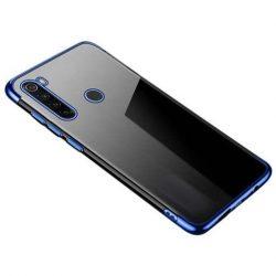 Clear Color Gel tok TPU galvanizált keret tok Motorola G8 Plus kék telefontok