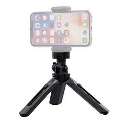 Mini Állvány telefon tartó szerelhető szelfi bot kamera GoPro tartó fekete
