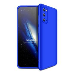 GKK 360 Protection tok Első és hátsó tok az egész testet fedő Samsung Galaxy S20 kék