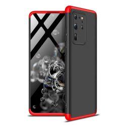 GKK 360 Protection tok Első és hátsó tok az egész testet fedő Samsung Galaxy S20 Ultra fekete-piros