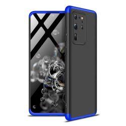 GKK 360 Protection tok Első és hátsó tok az egész testet fedő Samsung Galaxy S20 Ultra fekete-kék