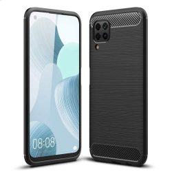 Carbon tok Rugalmas Cover TPU tok Huawei P40 Lite / Nova 7i / Nova 6 SE fekete