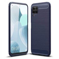 Carbon tok Rugalmas tok TPU tok Huawei P40 Lite / Nova 7i / Nova 6 SE kék telefontok