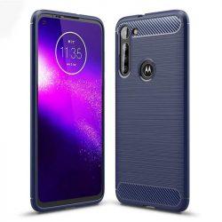 Carbon tok Rugalmas tok TPU tok Motorola Moto G8 Teljesítmény kék telefontok