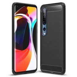 Carbon tok Rugalmas tok TPU tok Xiaomi Mi 10 Pro / Xiaomi Mi 10 fekete telefontok