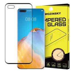 Wozinsky edzett üveg FullGlue Super Tough képernyővédő fólia Teljes Coveraged kerettel tok barát Huawei P40 fekete