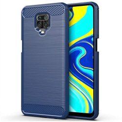 Carbon tok Rugalmas Cover TPU tok Xiaomi redmi Note 9s kék