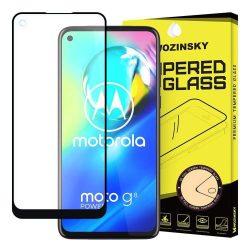 Wozinsky edzett üveg FullGlue Super Tough képernyővédő fólia Teljes Coveraged kerettel Case-barát Motorola Moto G8 Teljesítmény fekete