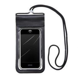 """Vízálló telefon tok 6,6 """""""" fekete"""