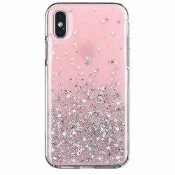 Wozinsky Star Glitter Shining telefontok Xiaomi redmi Note 9 Pro / redmi Note 9s rózsaszín telefontok