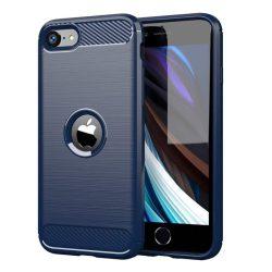 Carbon tok Rugalmas tok TPU tok iPhone SE 2020 kék telefontok