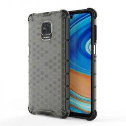 Honeycomb tok páncél telefontok TPU Bumper Xiaomi redmi Note 9 Pro / redmi Note 9s fekete telefontok