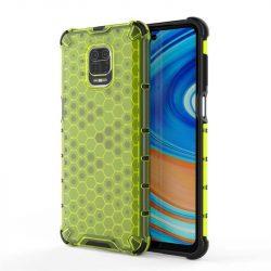 Honeycomb tok páncél telefontok TPU Bumper Xiaomi redmi Note 9 Pro / redmi Note 9s zöld telefontok