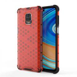 Honeycomb tok páncél telefontok TPU Bumper Xiaomi redmi Note 9 Pro / redmi Note 9s piros telefontok
