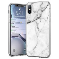 Wozinsky Marble TPU tok Huawei P40 Lite / Nova 7i / Nova 6 SE fehér telefontok