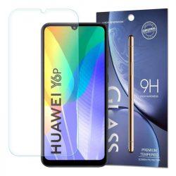 edzett üveg tempered glass 9H Képernyővédő fólia Huawei Y6p / Honor 9A (csomagolás - boríték) üvegfólia