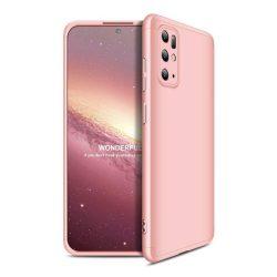 GKK 360 Protection tok Első és hátsó tok az egész testet fedő Samsung Galaxy S20 Plus rózsaszín telefontok