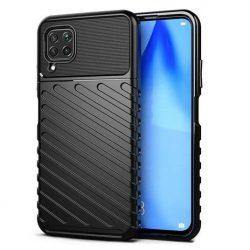 Thunder tok Rugalmas Kemény tok TPU tok Huawei P40 Lite fekete telefontok