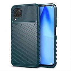 Thunder tok Rugalmas Kemény tok TPU tok Huawei P40 Lite zöld telefontok