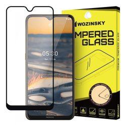 Wozinsky edzett üveg tempered glass FullGlue Super Tough képernyővédő fólia teljes képernyős kerettel tok barát Nokia 5.3 fekete üvegfólia