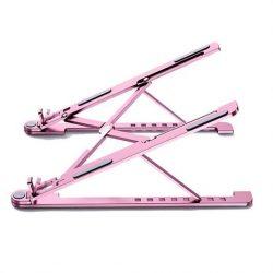 Hordozható alumínium asztali laptop MacBook állvány L (képernyőméret: 14 '' - 17,3 '') rózsaszín
