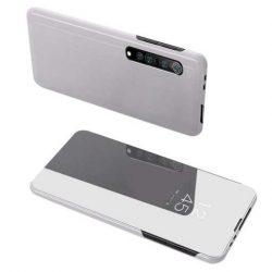 Clear View tok Xiaomi Mi Note 10 Lite ezüst telefontok