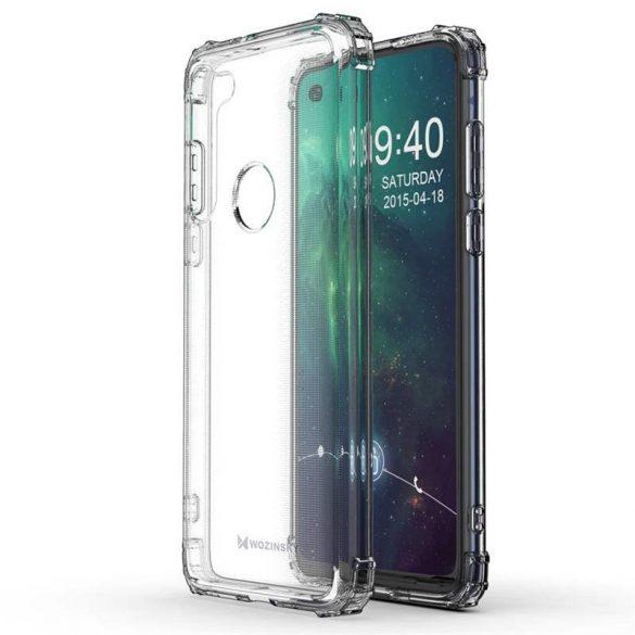 Wozinsky ütésálló tartós tok katonai fokozatú védelem Motorola Moto G8 Teljesítmény átlátszó telefontok