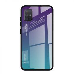 Gradiens Glass tartós edzett üveg tempered glass lap Samsung Galaxy A71 zöld-lila telefontok