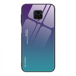 Gradiens Glass tartós edzett üveg tempered glass lap Xiaomi redmi Note 9 Pro / redmi Note 9s zöld-lila telefontok