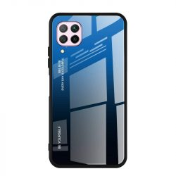 Gradiens Glass tartós edzett üveg tempered glass lap Huawei P40 Lite / Nova 7i / Nova 6 SE fekete-kék telefontok