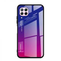 Gradiens Glass tartós edzett üveg tempered glass lap Huawei P40 Lite / Nova 7i / Nova 6 SE rózsaszín-lila telefontok