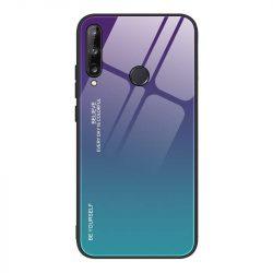 Gradiens Glass tartós edzett üveg tempered glass lap Huawei P40 Lite E zöld-lila telefontok
