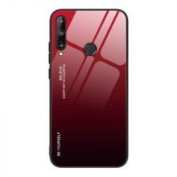 Gradiens Glass tartós edzett üveg tempered glass lap Huawei P40 Lite E fekete-piros telefontok