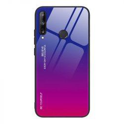 Gradiens Glass tartós edzett üveg tempered glass lap Huawei P40 Lite E pink-lila telefontok