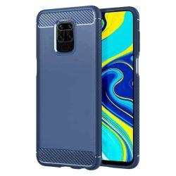 Carbon tok Rugalmas tok TPU tok Xiaomi redmi 10X 4G / Xiaomi redmi Note 9 kék telefontok