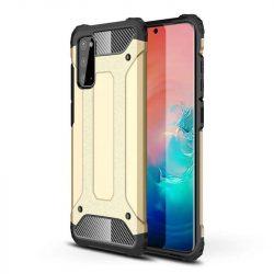 hybrid Armor tok Kemény tok Samsung Galaxy A41 arany telefontok
