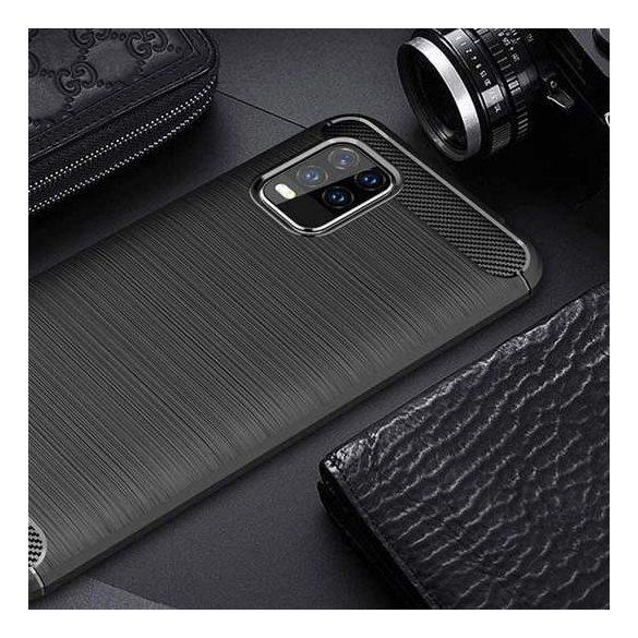Carbon tok Rugalmas tok TPU tok Xiaomi Mi 10 Lite blue telefontok