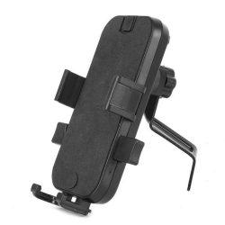 Tükörre szerelhető motoros telefon tartó  fekete