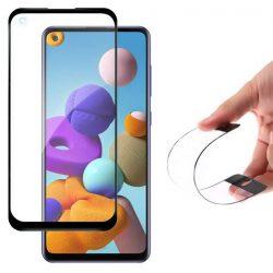 Wozinsky Full tok Flexi Nano üveg hybrid képernyővédő fólia kerettel Samsung Galaxy A21S fekete üvegfólia