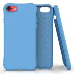 Puha színes tok rugalmas gél tok iPhone SE 2020 / iPhone 8 / iPhone 7 kék telefontok