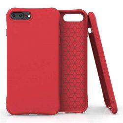 Puha színes tok rugalmas gél tok iPhone 8 Plus / iPhone 7 Plus piros telefontok