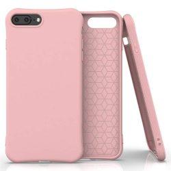 Puha színes tok rugalmas gél tok iPhone 8 Plus / iPhone 7 Plus rózsaszín telefontok