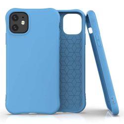 Puha színes tok rugalmas gél tok iPhone 11 kék telefontok