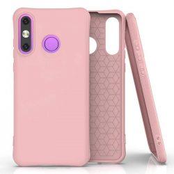 Puha színes tok rugalmas gél tok Huawei P30 Lite rózsaszín telefontok