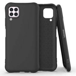 Puha színes tok rugalmas gél tok Huawei P40 Lite / Nova 7i / Nova 6 SE fekete telefontok