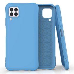 Puha színes tok rugalmas gél tok Huawei P40 Lite / Nova 7i / Nova 6 SE kék telefontok