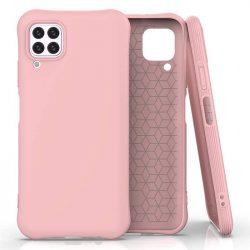 Puha színes tok rugalmas gél tok Huawei P40 Lite / Nova 7i / Nova 6 SE rózsaszín telefontok