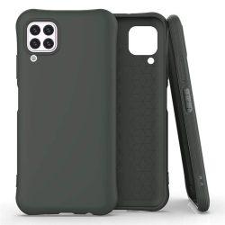 Puha színes tok rugalmas gél tok Huawei P40 Lite / Nova 7i / Nova 6 SE sötétzöld telefontok