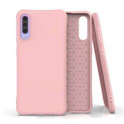 Puha színes tok rugalmas gél tok Samsung Galaxy A70 rózsaszín telefontok