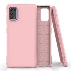 Puha színes tok rugalmas gél tok Samsung Galaxy A41 rózsaszín telefontok